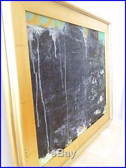 VINTAGE ABSTRACT EXPRESSIONIST NONOBJECTIVE PAINTING MID CENTURY New York Signed