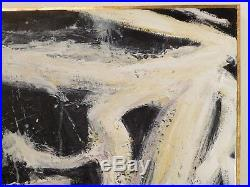 VINTAGE ABSTRACT EXPRESSIONIST OIL PAINTING MID CENTURY MODERN Signed 1978