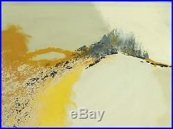 VINTAGE ABSTRACT EXPRESSIONIST OIL PAINTING Mid Century Modern New York Signed