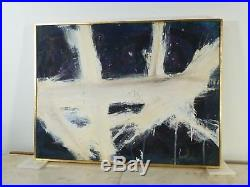 VINTAGE ABSTRACT MODERNIST ACTION PAINTING MID CENTURY MODERN Signed