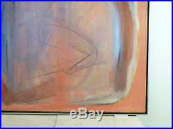 VINTAGE ABSTRACT MODERNIST OIL PAINTING MID CENTURY MODERN LARGE Signed