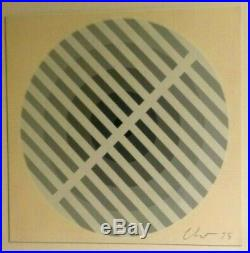 VINTAGE ABSTRACT MODERNIST OP ART PAINTING Mid Century Modern Signed 1975