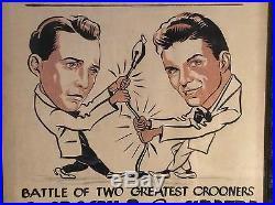 Vintage Advertising Frank Sinatra Bing Crosby Original Painting Theatre Poster