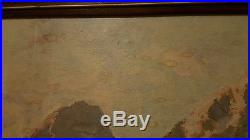VINTAGE ART Robert Wood Grand Teton Framed Reproduction Print 51X27 SIGNED