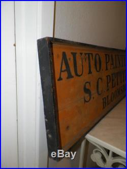 VINTAGE AUTO PAINTING S. C. PETTIT BLOOMSBURG YELLOW BLACK 1930's/40's 38 LONG