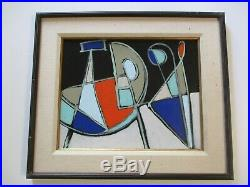 VINTAGE CONTEMPORARY PAINTING ABSTRACT EXPRESSIONISM SIGNED pop Art MODERNISM