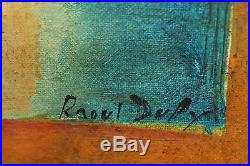 Vintage French Fauvist Landscape Seascape Oil Painting Signed Raoul Dufy