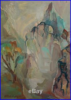 Vintage German Expressionist Landscape Oil Painting Signed H. M. Pechstein