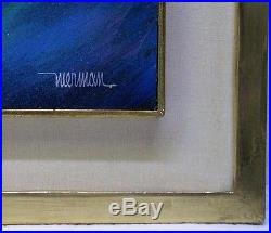 Vintage Leonardo Nierman Signed Abstract Expressionism Modernist Painting