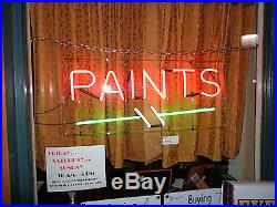 VINTAGE NEON SIGN-1940s-PAINTS-3 COLOR-SERVICED / NEW X- FORMER- WARRANTY