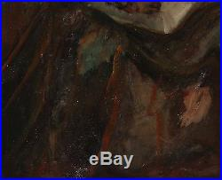 Vintage Russian Expressionist Portrait Oil Painting Signed Soutine