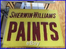 Vintage Sherwin-williams Paint Fiberglass Retail Sign