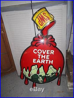 Vintage Sherwin Williams Paint Porcelain-3-d Sign-35-swp-cover The Earth