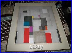 Vintage Signed Norio Azuma Image In Love Serigraph Artist Proof Framed Abstract