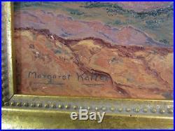 VINTAGE SOUTHWEST DESERT LANDSCAPE PAINTING signed MARGARET KALLER