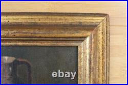 VINTAGE Still Life Signed shabby chic frame OIL Painting Canvas antique