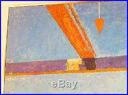 VINTAGE VIETNAM ERA BOOT CAMP MALE SOLDIERS OIL PAINTING Mid Century Signed