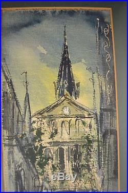 Vintage Watercolor New Orleans Signed Tom Lane