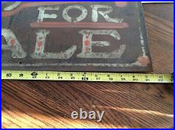 VINTAGE old hand painted Tricycles for sale heavy steel sign