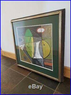 VTG 1946/Mid-Century Modern ABSTRACT Original FRANK VAVRUSKA Framed Oil Painting