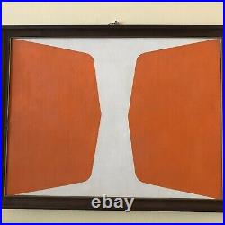 VTG ABSTRACT Original Oil PAINTING Geometric Color Field Hard Edge Signed 1972