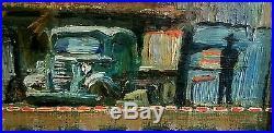 VTG Original E Hopper SIGNED My 1938 Coca Cola Truck Oil On Canvas Painting NR