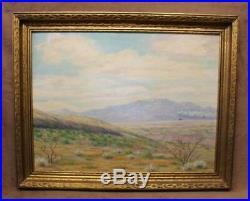 V. Scott Vintage California Landscape Oil Painting on Canvas Panel Framed