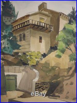 Valerie Bond, LISTED, early California artist, vintage Calif. Landscape, signed