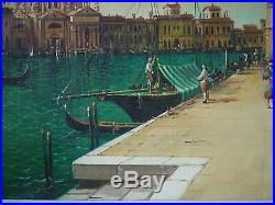 Venice Italy Vintage Large Original Oil Painting Italian School