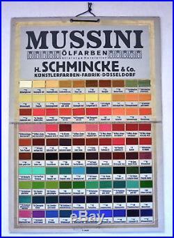 Vintage 1920 ARTIST Color OIL PAINT Art STORE DISPLAY Palette MUSSINI Schmincke