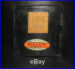 Vintage 1930's GILLCO DRUG STORE LIGHT UP REVERSE PAINT ON GLASS SIGN GARDE