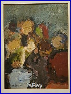 Vintage 1940 Early American Abstract Expressionist Henry Botkin Painting Ny Sc