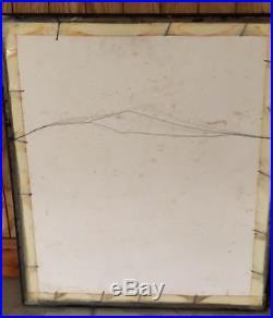 Vintage 1940's Original Showgirl Pinup Pastel Painting Signed Ed Edo Branch NICE