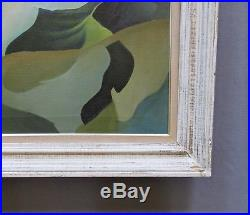 Vintage 1948 Mid-Century Abstract Expressionist Oil Painting Signed Dated