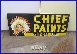 Vintage 1950's Chief Paints 2-sided Tin Sign from Hardware Store