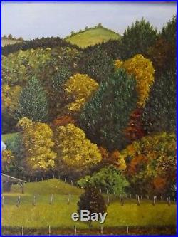 Vintage 1957 Oil on Board North Carolina Painting Listed Artist