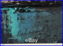 Vintage 1958 Expressionist Semi-Abstract Modern Oil on Masonite Illegibly Signed