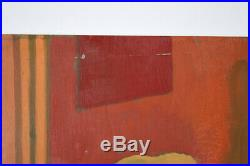 Vintage 1959 Painting Waiting Room Dick Fort Chicago Nightclub Series