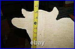 Vintage 1960s Grocery Kemps Dairy ITS THE COWS Wood Sign HAND PAINTED