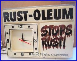 Vintage 1965 Rust-Oleum Spray Paint Can Hardware Store Lighted Sign Clock