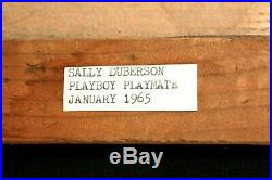 Vintage 1965 nude woman oil on velvet painting of Sally Duberson, signed