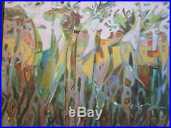 Vintage 1970's Painting Abstract Expressionism Non Objective Modernism Keefe