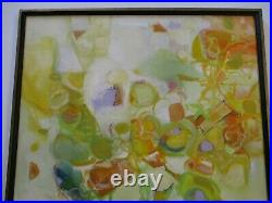 Vintage 1970's Painting MID Century Modern Abstract Expressionism Rare Colorful