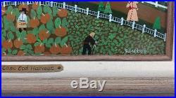 Vintage 1985 Rosebee Original Painting Cape Cod Harvest Signed Framed