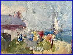 Vintage 20th Cent Impressionist Oil Painting Claude Turnois Western Cape SAfrica