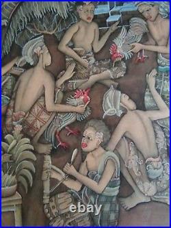 Vintage 2 Bali Batuan Paintings Signed
