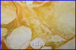 Vintage 66 SIGNED Midcentury Modern ABSTRACT Jere Era RAINDROPS CIRCLES Painting