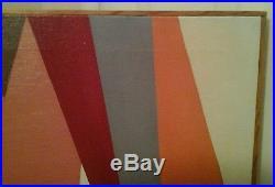 Vintage ABSTRACT HARD EDGE MODERNIST Painting Signed T. WASHINGTON