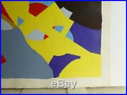 Vintage ABSTRACT MODERNIST COLORIST PAINTING MID CENTURY MODERN Signed 1960s