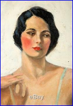 Vintage A. L. Ridgard Pinup Painting, c. 1940 -Illustration Art